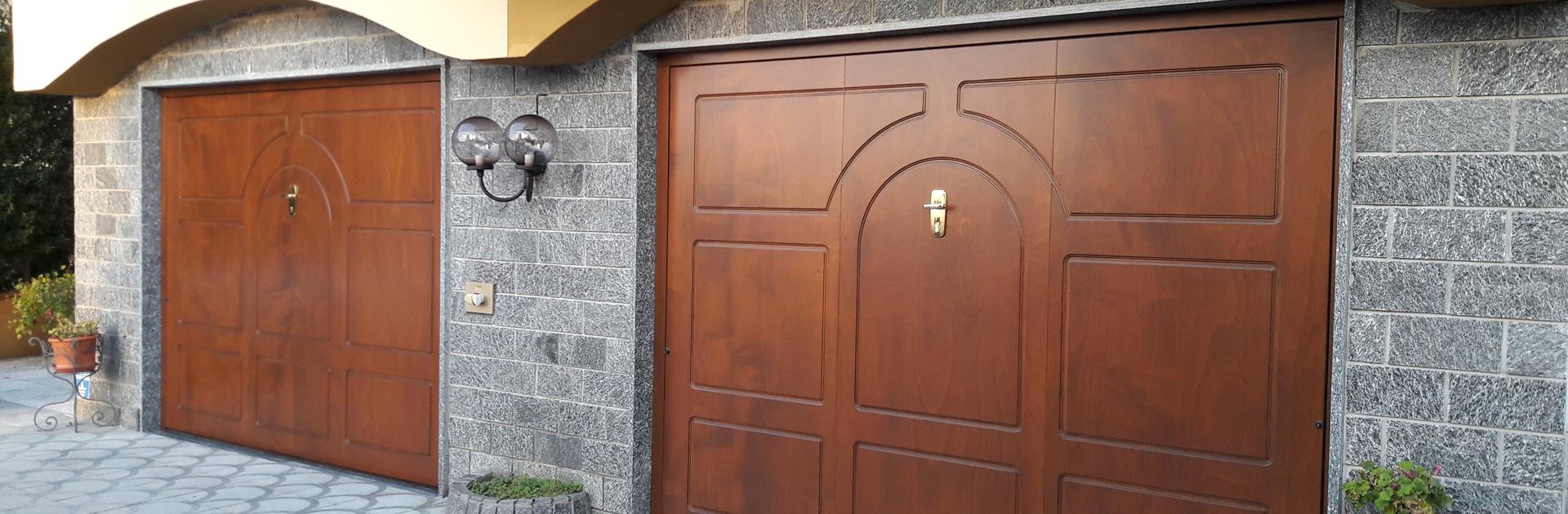 produzione porte basculanti in legno elite